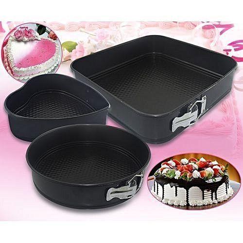 Cake Pan Mould - 3pcs
