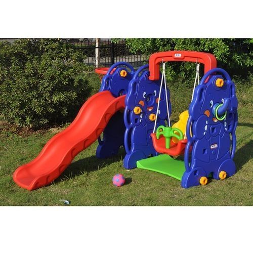 3 IN 1 Children Slide With Swing And Basketball.