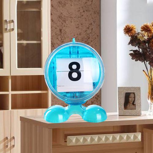 Cute Mini Manual Flip Desktop Stand Calendar Home Office Table Planner Organizer