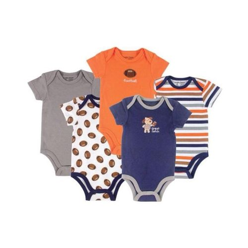 5 Pack Football Design Multicolour Bodysuit
