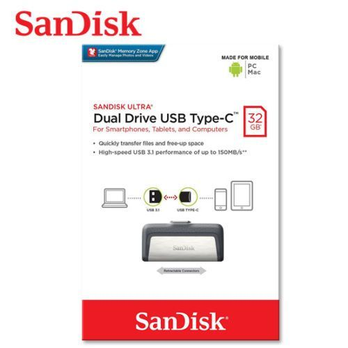 32GB Ultra Dual USB Type-C OTG