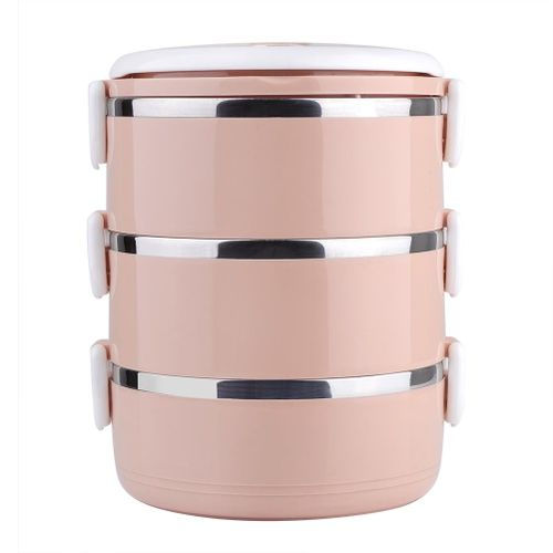 3-Layer Stainless Steel Lunch Box Stainless Steel Thermal Stackable Leakproof Lunch Container