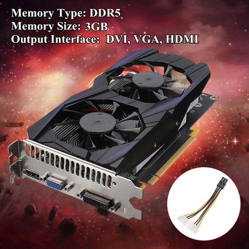 GTX1060 3GB DDR5 128Bit Game Graphics Card PCI-E VGA DVI HDMI For NVIDIA