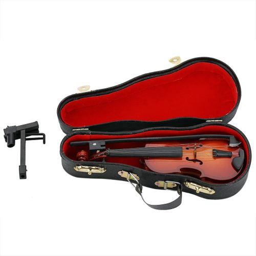 Mini Musical Instruments Violin Model Wooden Classic Toys Decoration Gifts
