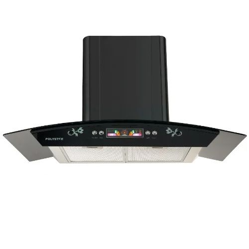 90cm Smoke Extractor Kitchen Hood Tempered Glass