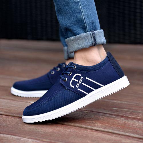 Men's Lace Up Casual Shoes-Blue