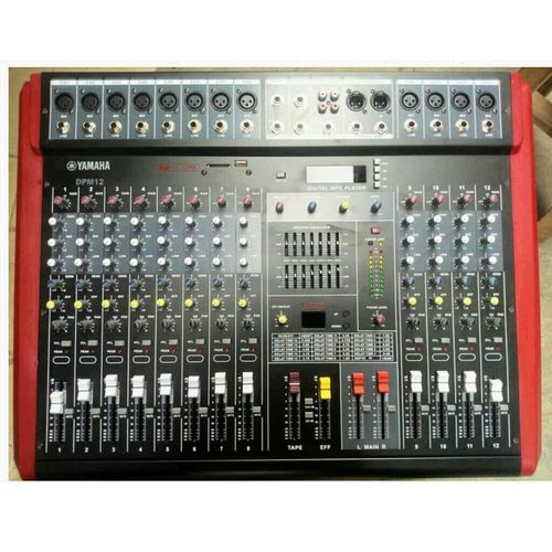 Portable Powered 12 Channels Audio Mixer With In Built Power Amplifier And USB Port