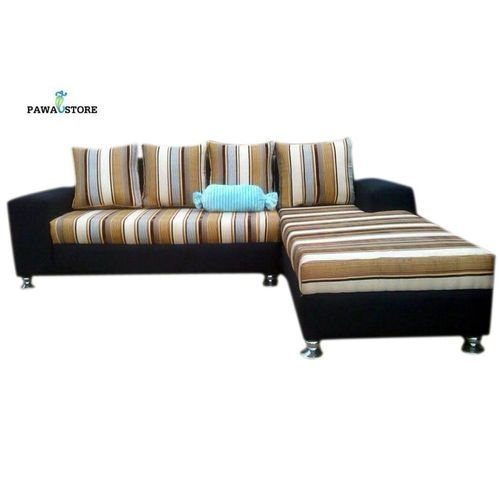 Aitiano Striped 5 Seater L-Shaped Sofa. 'ORDER NOW AND GET FREE OTTOMAN' (Delivery To Lagos Only)