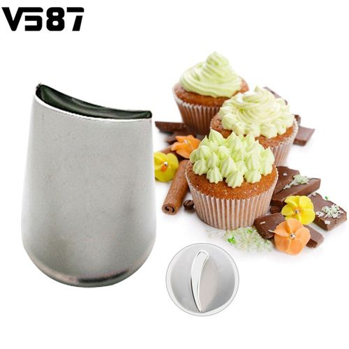 3PCS Stainless Steel Flower Petal Icing Piping Nozzles DIY Cake Brim