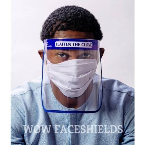 Anti-splash Face Shields - Blue