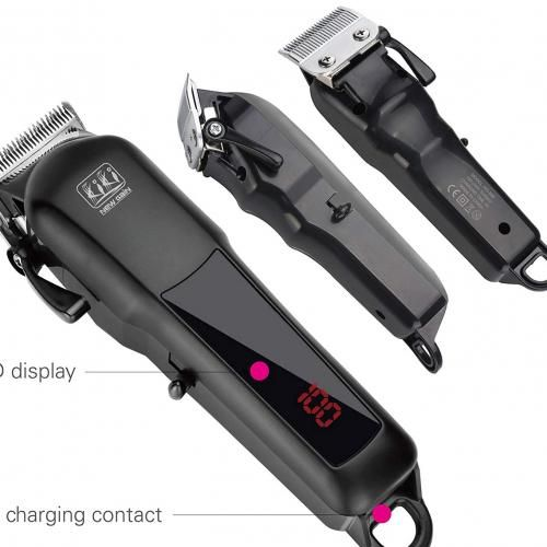 Rechargeable Hair Clipper With Led Battery Display