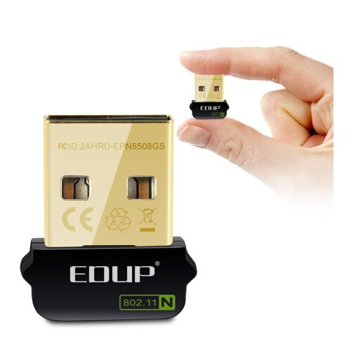 EP - N8508GS 150Mbps Mini USB Wireless LAN Card Portable WiFi Receiver Network Adapter - Black