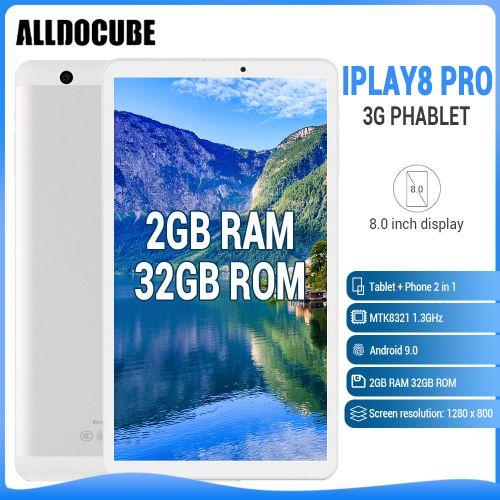 "IPlay8 Pro 8.0"" Inch (2GB RAM 32GB ROM), Android 9.0 5500mAh- Silver"