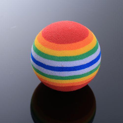 Small Pet Rainbow Ball Chew Treat Feeding Training Activity Balls Toy