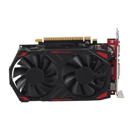 GTX750 128Bit Gaming Graphics Card With Cooling Fan PCI-Express GPU Black
