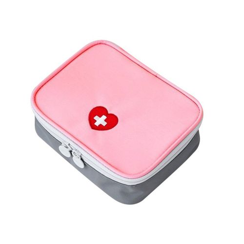 Home-Mini Outdoor First Aid Kit Bag Travel Medicine Package Emergency Kit Bag*Pink