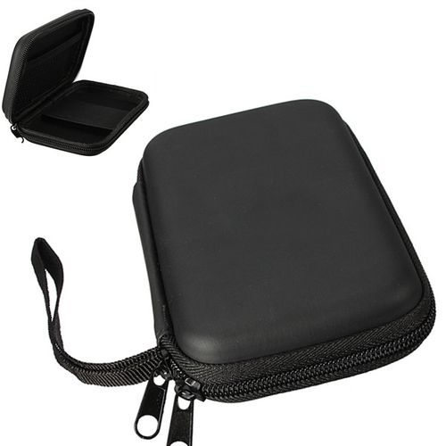 "2.5"" External USB Hard Drive Disk Carry Zipper Case Cover Pouch Bag For PC GPS Black"