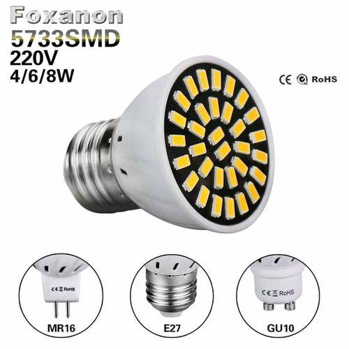 CLAITE E27 GU10 MR16 8W 32 SMD 5733 LED Pure White Warm White High Quality Spot Lightting Lamp Bulb 220V