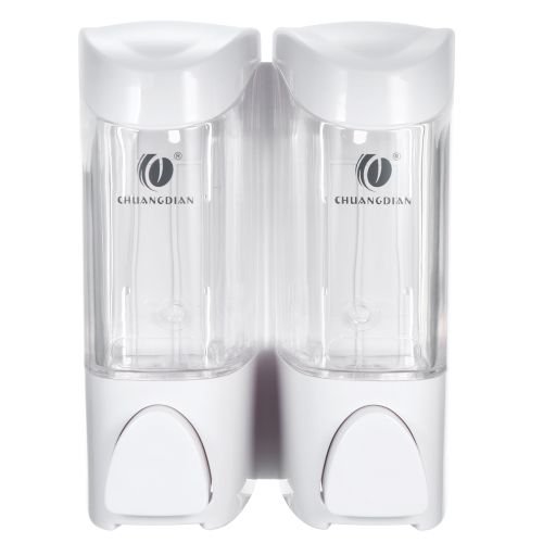 CHUANGDIAN 300ml * 2 Wall-mounted Two Chamber Manual Soap