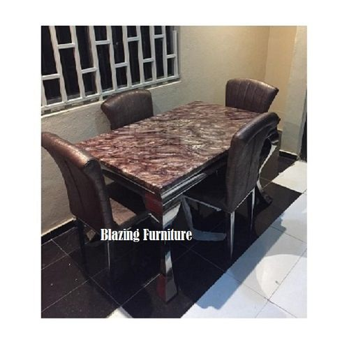 Exquisite Marble Dinning With 4 Chairs