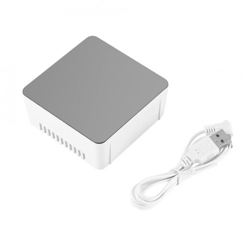 Multi-function LED Digital Cosmetic Mirror Alarm Clock Gift Square