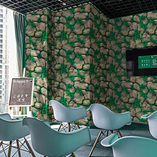 40cm Green Stone Home Decor Wall Sticker Bedroom Living Room Background Wallpaper Decorations Murals
