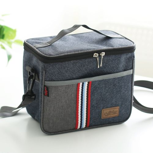 Cooler Insulated Canvas Picnic Lunch Bag Box Thermal Food Picnic Warm Cold New