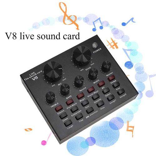V8 Audio USB External Sound Card Live Show Soundcard