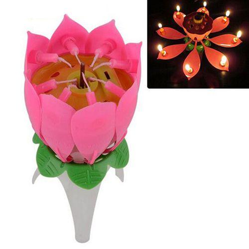 Lotus Candle Musical Birthday