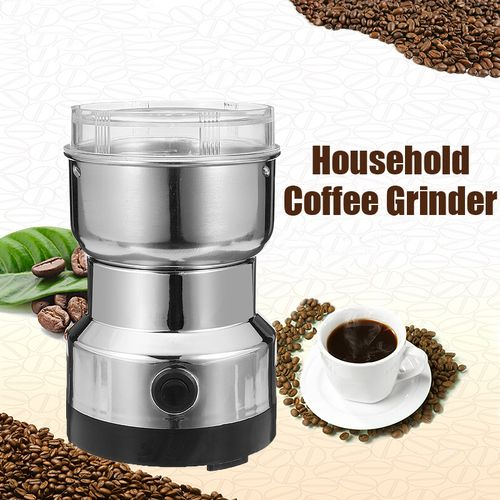 Electric Coffee Grinder Nut And Spice Grinder In Stainless Steel 200W Wet Dry
