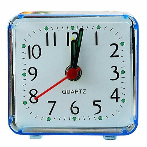Transparent Square Power Saving Dask Travel Alarm Clock