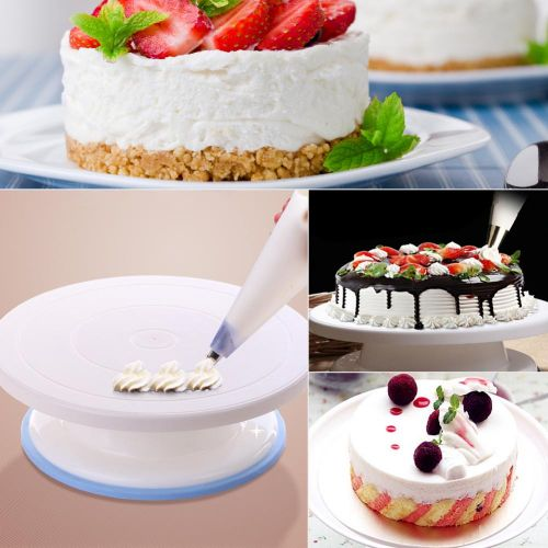 Cake Decorating Turntable Rotating Cake Stand Baking Supplies With Decorating Sets