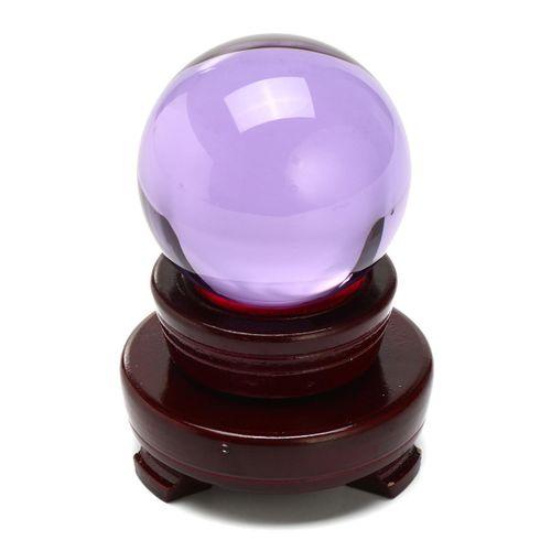 60mm Natural Purple Amethyst Quartz Crystal Ball Sphere Healing Gemstone + Stand
