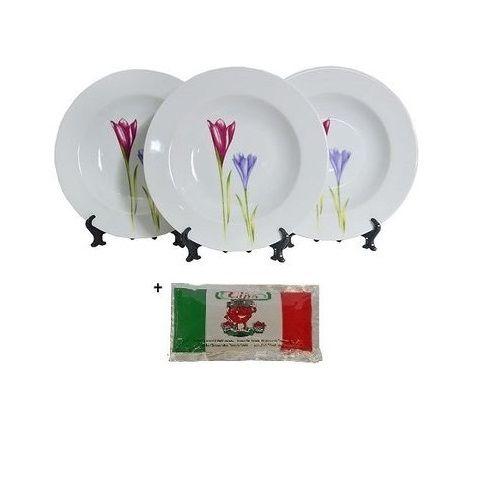 Premium 3Pcs Soup Plate Set - Pastoral