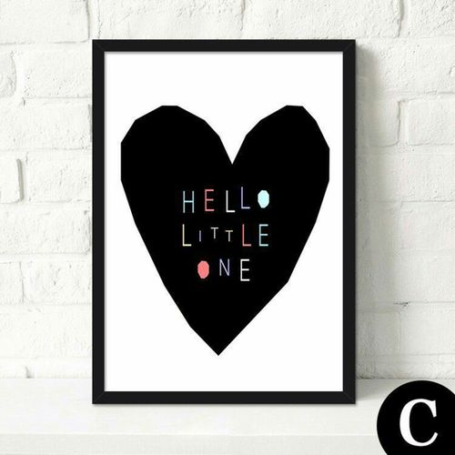 40*50cm Mordern Canvas Art Poster Print Wall Picture Home Decor Without Frame-Black
