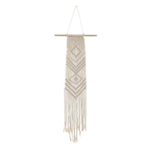 Fashionable Macrame Woven Wall Hanging Tassel Tapestry Living Room Bedroom Decor Art