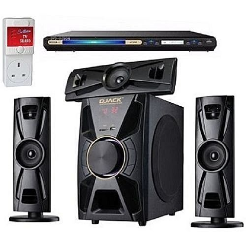 Bluetooth Home Theatre System + LG DVD PLAYER + Power Surge
