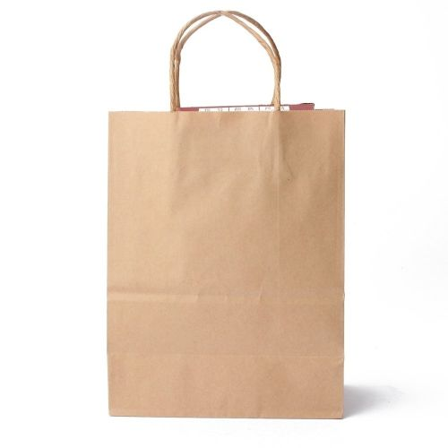 40pcs Kraft Brown Twisted Handle Shopping Gift Merchandise Paper Carrier Retail Bags 21x11x27CM