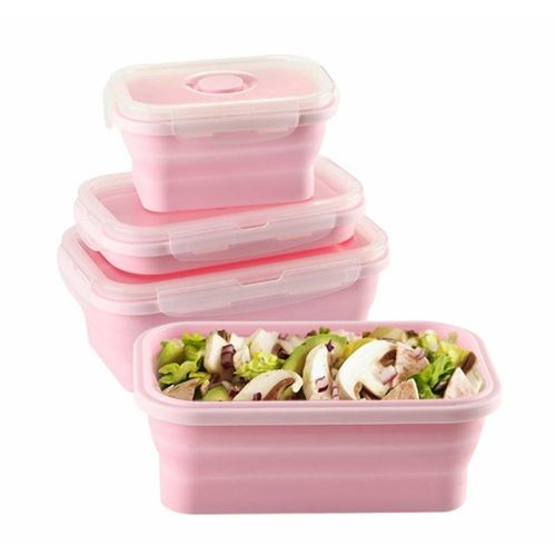 [3 PCS] Silicone Lunch Box Portable Collapsible Household