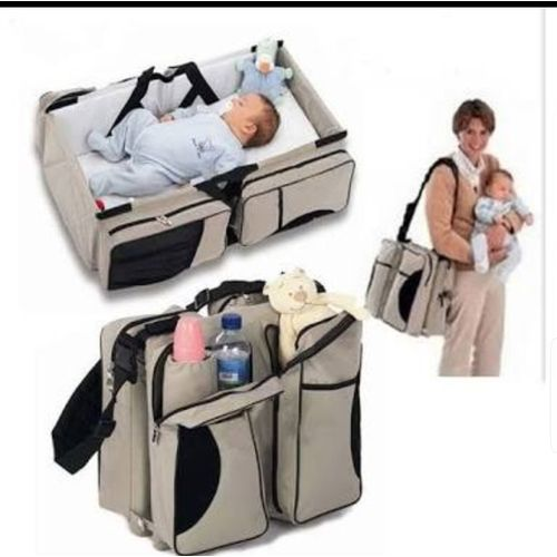 Baby Diaper Bag And Travel Cot - Mother Care