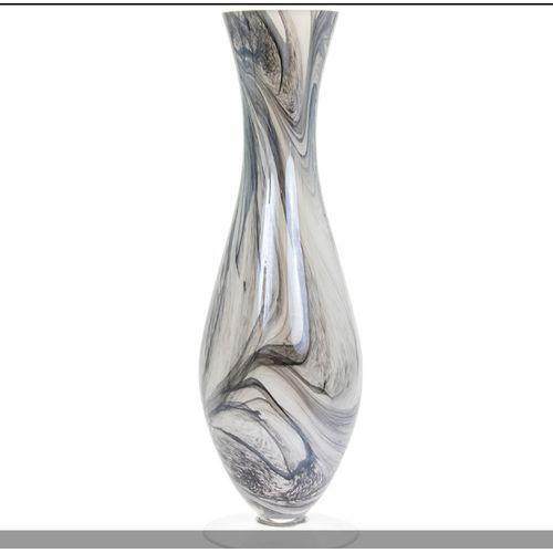 Vincenza Glass Swirled Marble Flower Table Vase