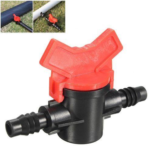 Plastic Garden Irrigation Barb Ball Shut-off Valve Connector For Pipe Hose Tube.