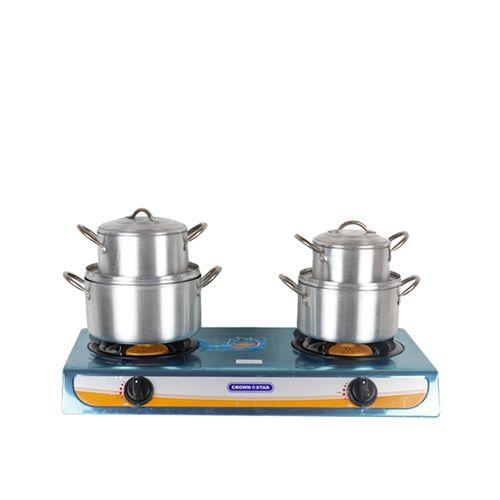 Masterchef Gas Cooker + 4 Set Pot