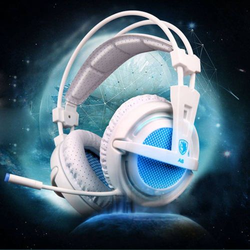 A6 USB 7.1 Surround Sound USB Stereo Gaming Headphones Over Ear Noise Isolating Breathing LED Lights Headset For PC Gamer