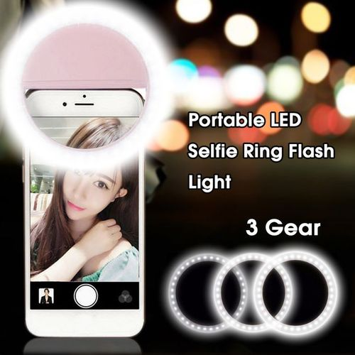Rechargeable Selfie LED Camera Ring Flash Fill Light