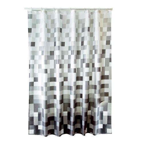 Durable Waterproof Mildew-proof Lightproof Bathroom Curtain With Hooks Luxury Bath Curtain