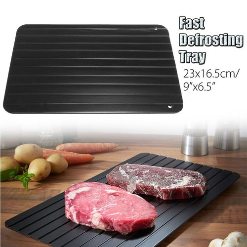 2 X Fast & Easy Defrosting Meat Tray -Rapid Safety Thawing Tray For Frozen Food Meat