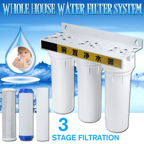 Water Purifier Filter System Three Stage Filtration 3/4'' Inlet 3MPa
