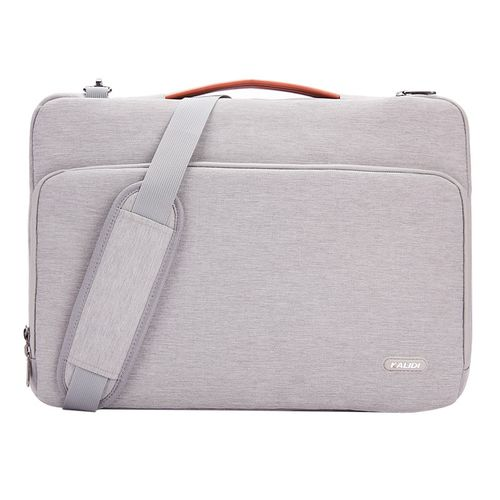 Laptop Bag Sleeve 11 12 13.3 15.6 17 Inch Waterproof Notebook Bag For Macbook Air Pro 11 13 15 Computer Bag For Women Men( 15-inch)(Shoulder Bag Gray)