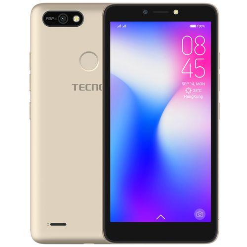 "POP 2F (B1F) 5.5"" Android 8.1, 16GB ROM + 1GB RAM, 8+5MP Beauty Camera, Fingerprint, Face ID, 2400mAh Battery - Gold"